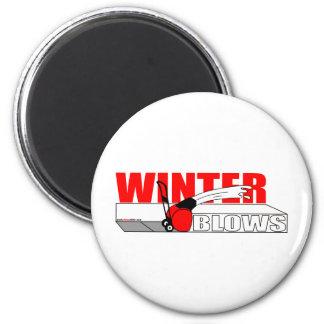 WINTER BLOWS REFRIGERATOR MAGNET
