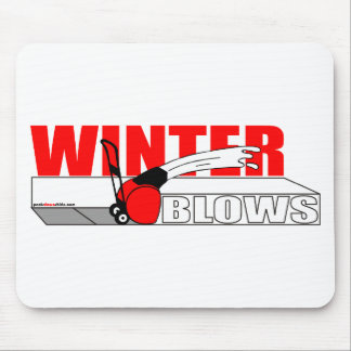 WINTER BLOWS MOUSE PAD