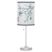 winter blue berries branches table lamp