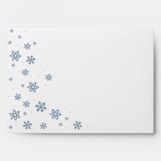 Winter Blue Ice Snowflake Holiday Envelope