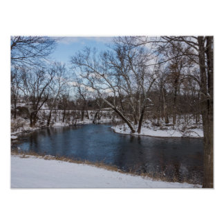 Winter Blue James River Poster