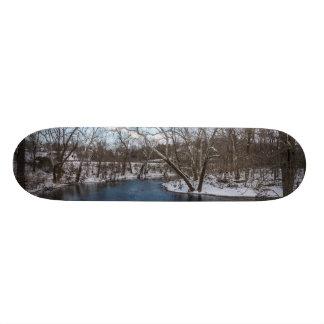 Winter Blue James River Skateboard