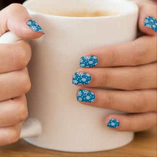Winter Blue Snowflake Pattern Minx Nail Wraps