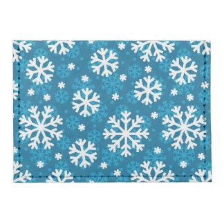 Winter Blue Snowflake Pattern Tyvek® Card Case Wallet