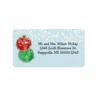 Winter Blue Snowflakes Christmas Address Labels