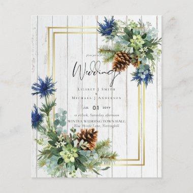 Winter Blue Thistle Eucalyptus Wedding Wonderland
