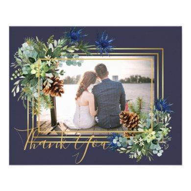 Winter Blue Thistle Eucalyptus Wedding Wonderland Flyer