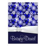 Winter Blue & White Snowflake Wedding Invitations