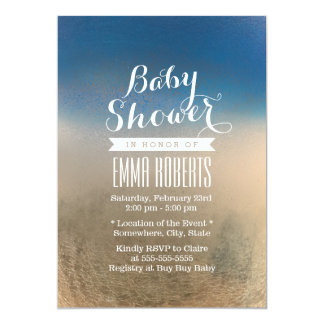 Winter Blue & White Texture Baby Shower Card