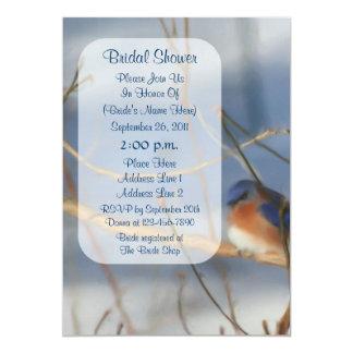"Winter Bluebird Art Bridal Shower Invite 5"" X 7"" Invitation Card"