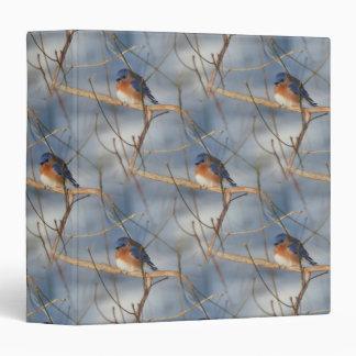 Winter Bluebird Nature Pattern Binder