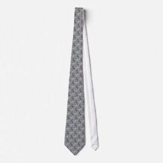 Winter Bluebird Nature Pattern Neck Tie