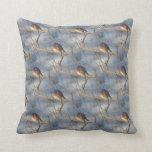 Winter Bluebird Nature Pattern Pillows