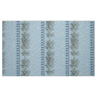 Winter Bluebirds in the Snow Fabric