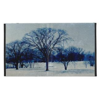 Winter Blues iPad Folio Case