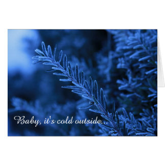 Winter Blues Customizable Greeting Card