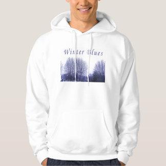 Winter blues hoodie