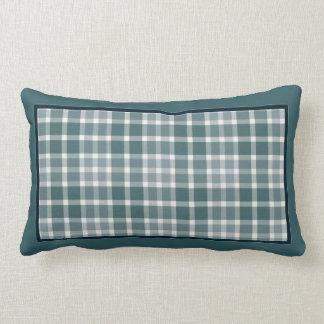 Winter Blues Plaid Throw Pillow