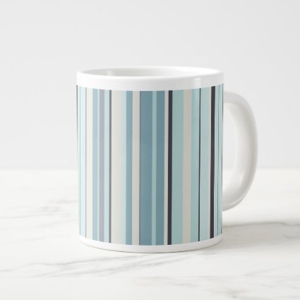 Winter Blues Stripes of Color Giant Coffee Mug