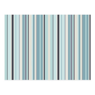 Winter Blues Stripes Postcard