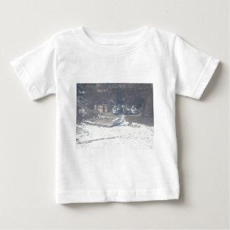 Winter boat dock scene infant t-shirt