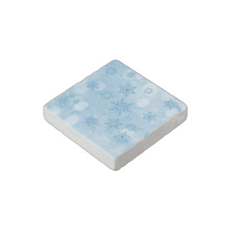 winter bokeh blue stone magnet