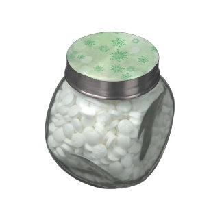 winter Bokeh green Glass Jar