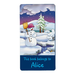 Winter Book Labels