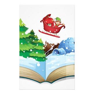 Winter book stationery