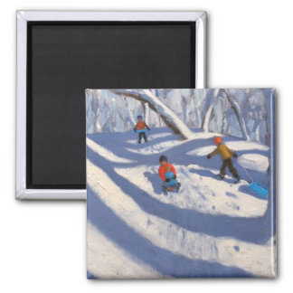 Winter Bramcote Nottingham 2008 2 Inch Square Magnet