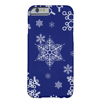 Winter breeze Cool Snowflakes Pattern Barely There iPhone 6 Case