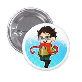 Winter Breeze Pinback Button