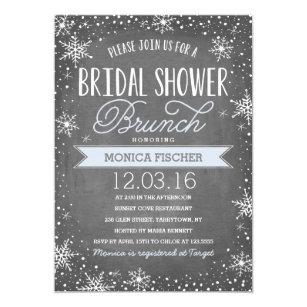 Winter bridal shower invitations announcements zazzle winter bridal shower invitation filmwisefo
