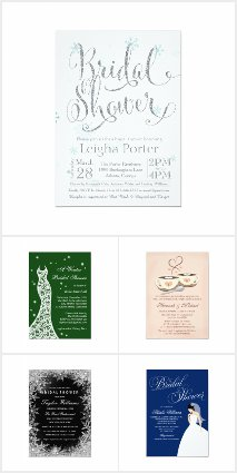 Winter Bridal Shower Invitations