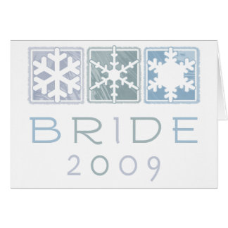 Winter Bride 2009 Greeting Card