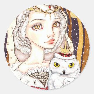 Winter Bride Classic Round Sticker