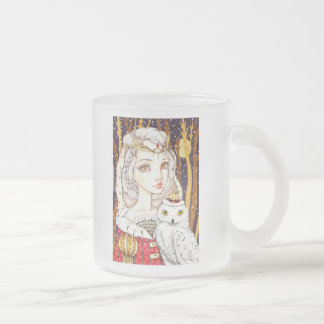 Winter Bride Frosted Glass Coffee Mug
