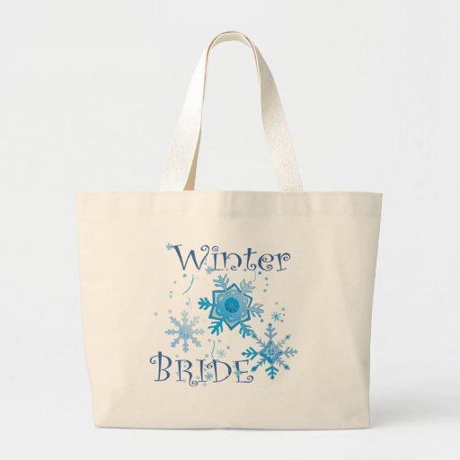 Winter Bride Tote Bag