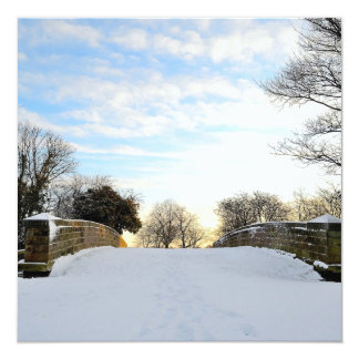 Winter Bridge Card