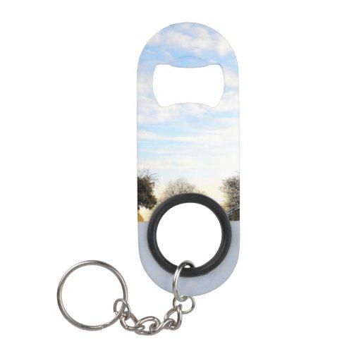 winter bridge keychain bottle opener zazzle. Black Bedroom Furniture Sets. Home Design Ideas