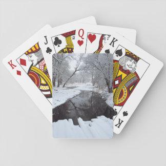 Winter Bridge Playing Cards