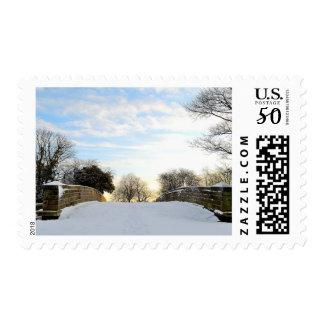 Winter Bridge Postage
