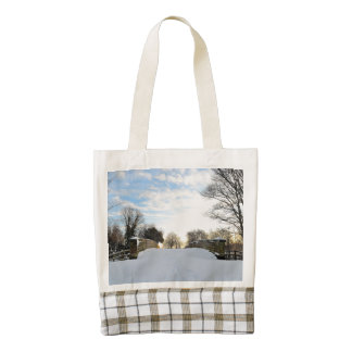 Winter Bridge Zazzle HEART Tote Bag