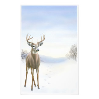 Winter Buck Stationery