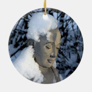 Winter Buddha Ceramic Ornament