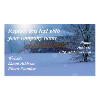 Winter Buildings Double-Sided Standard Business Cards (Pack Of 100)
