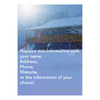 Winter Buildings Large Business Cards (Pack Of 100)