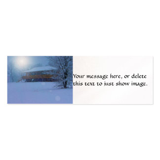 Winter Buildings Double-Sided Mini Business Cards (Pack Of 20)