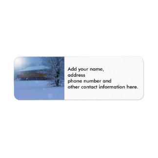 Winter Buildings Return Address Label