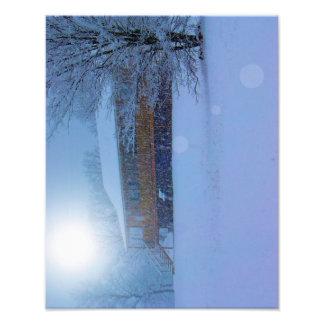 Winter Buildings Art Photo